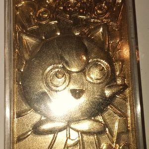 Gold collectible pokemon  card